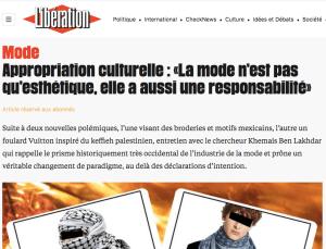 Appropriation culturelle : «La mode n'est pas qu'esthétique, elle a aussi une responsabilité»